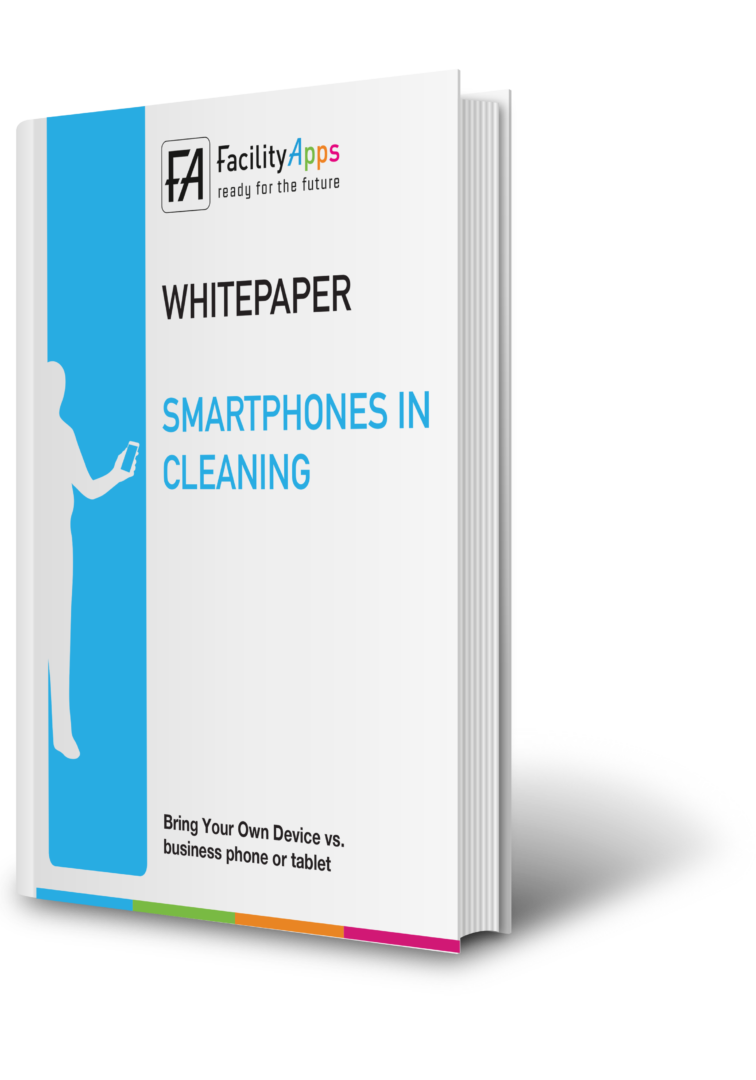 smartphones in cleaning facilityapps facility app cleaning