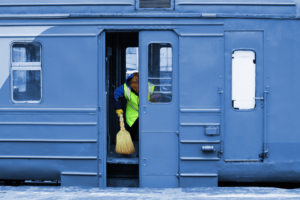train bus cleaning service software app